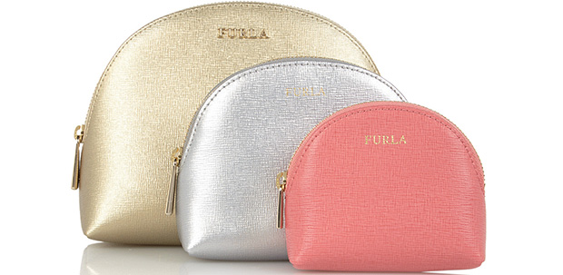 Furla make-up bags gold