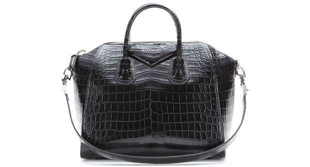 Givenchy Antigona medium croc black