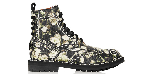 Givenchy boots floral pearls