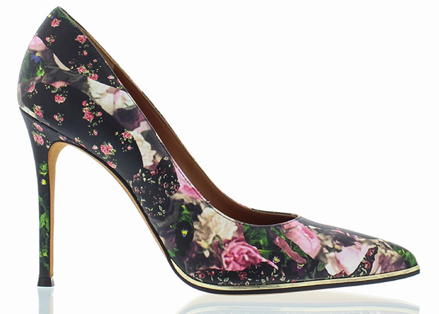 Givenchy floral pumps roses