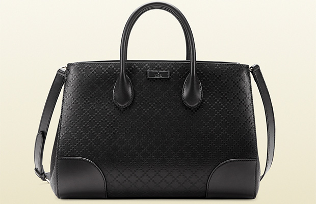Gucci bright diamante black tote