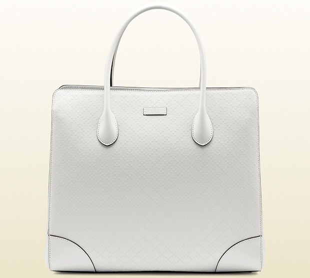 Gucci bright diamante white tote