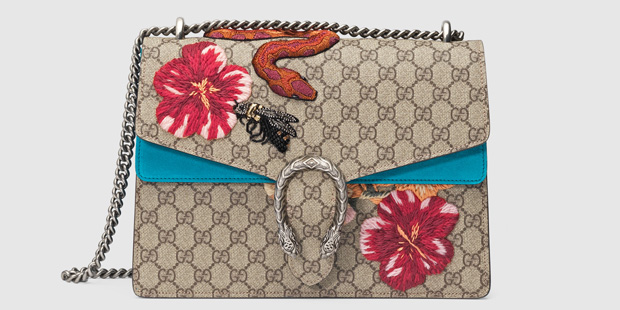 Gucci Dionysus flower snake embroided bag