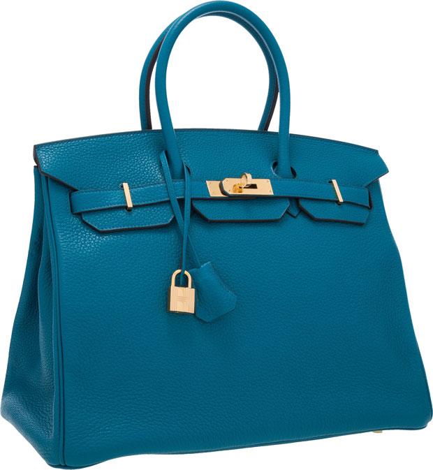 Hermès Birkin 35 cm Blue Izmir GHW