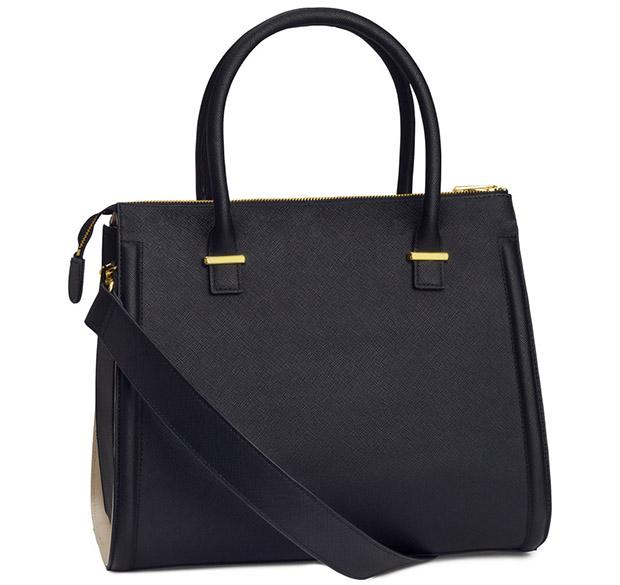 H&M handtas zwart herfst 2014