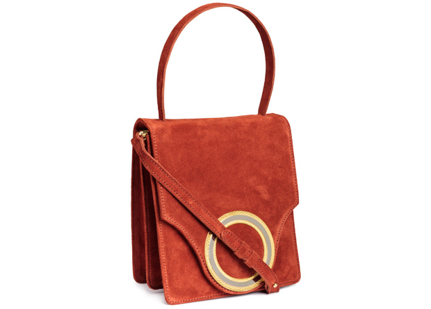 H&M suède tas rood
