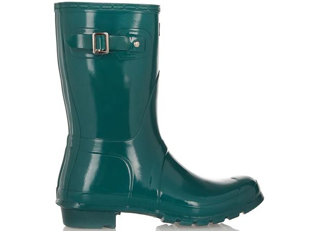 Hunter Lage groene regenlaarzen