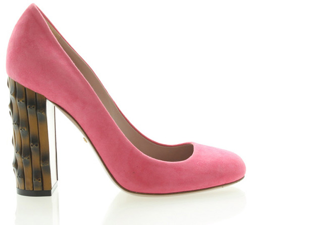 Gucci Bamboo pink pumps