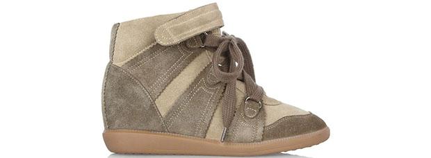 Isabel Marant Bluebell beige wedge sneakers