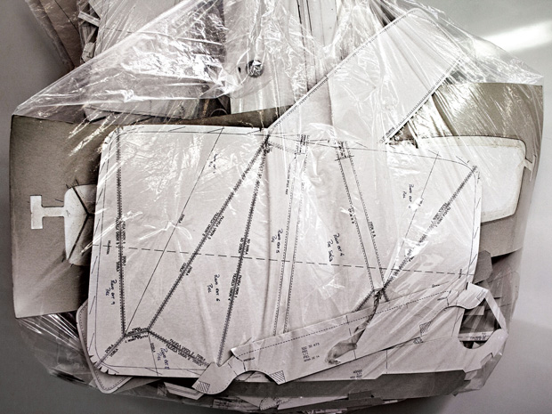 Loewe Puzzle bag cutting pattern