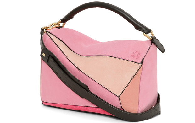 Loewe Puzzle bag pink suede