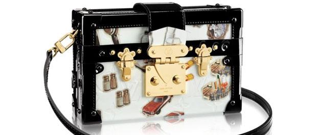 Louis Vuitton tassen retro print Petite Malle