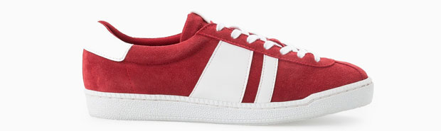 Mango Suede sneakers rood wit