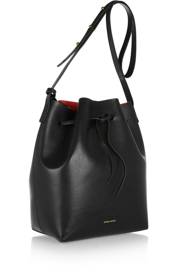 Mansur Gavriel bucket bag balck red