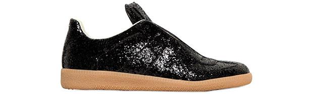 Martin Margiela glitter sneakers black