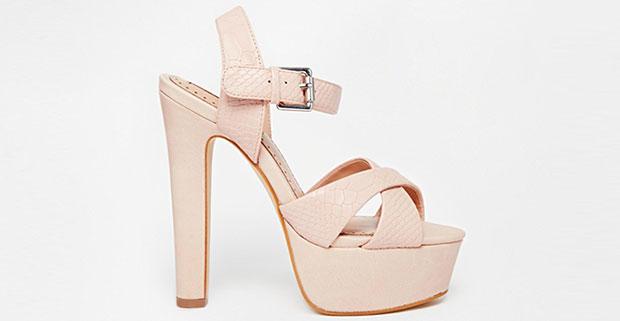 Miss KG Felicity nude platform sandals