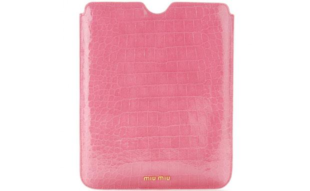 Miu Miu croco iPad cover
