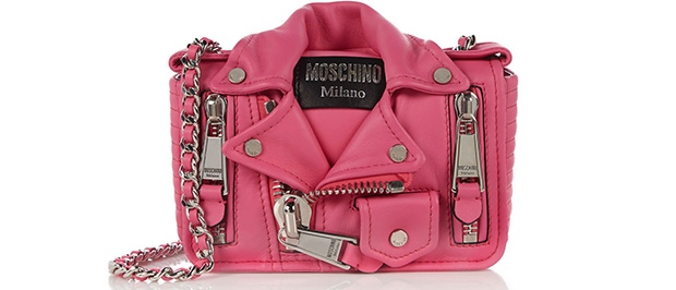 Moschino Barbie Biker jacket pink