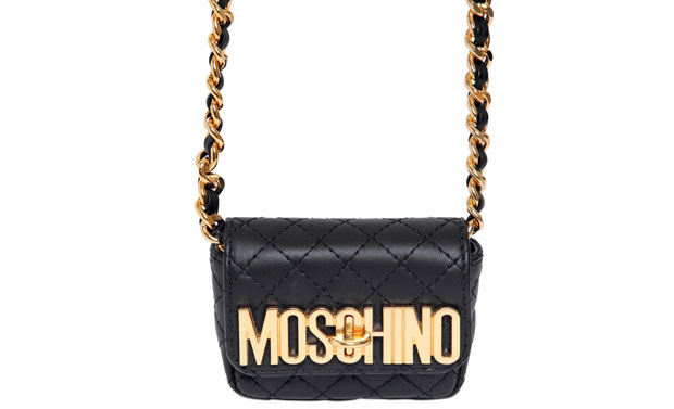 Moschino quilted logo bag