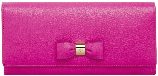 Mulberry bow continental wallet