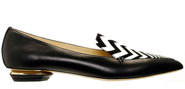 Nicholas Kirkwood black white flat loafers