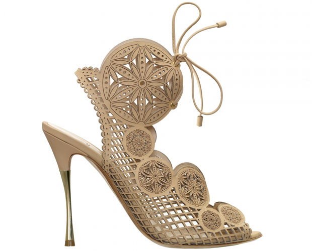 Nicholas Kirkwood beige cut out sandals