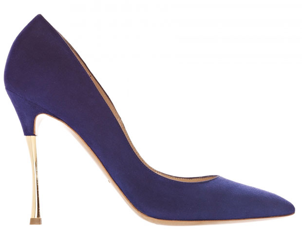 Nicholas Kirkwood purple suede pumps
