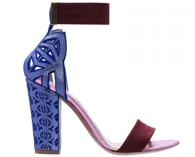Nicholas Kirkwood purple burgundy cut out sandals