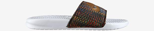 Nike Benassi white gold slides