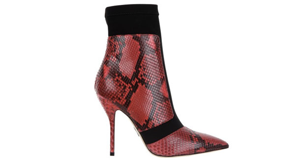 Paul Andrew Hertford python red boots