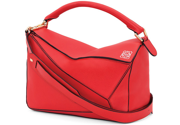 Loewe Puzzle bag small primary red