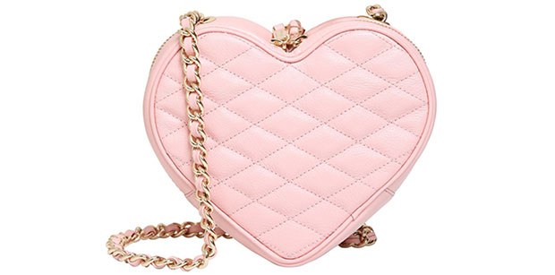 Rebecca Minkoff heart light pink