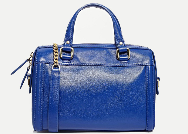 Reiss leather bag blue