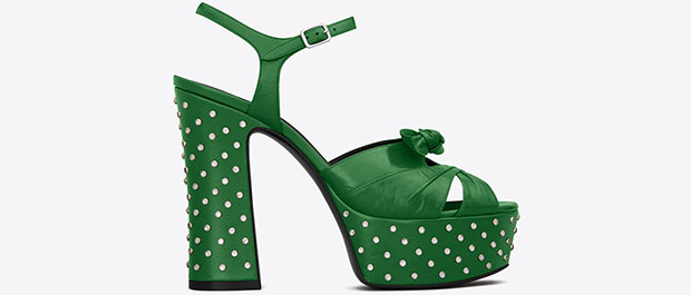 Saint Laurent Candy green sandals