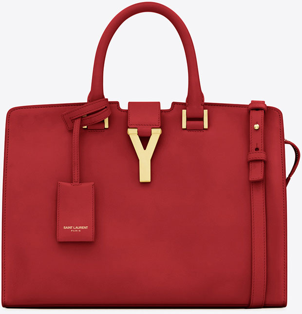 Saint Laurent Classic small Cabas red