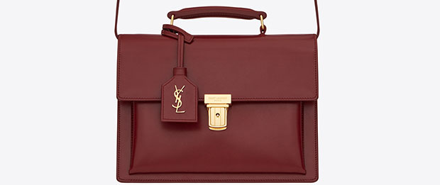 Saint Laurent medium High School satchel oxblood