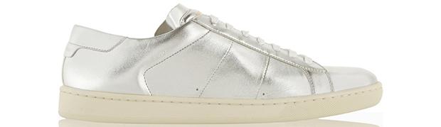 Saint Laurent metallic sneakers
