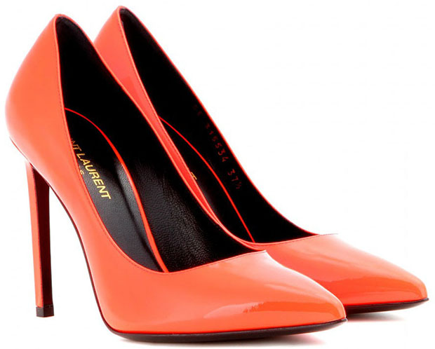 Saint Laurent Paris pumps orange