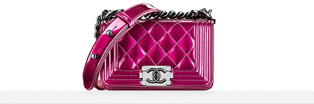 Chanel Boy Bag small pink metallic spring 2014