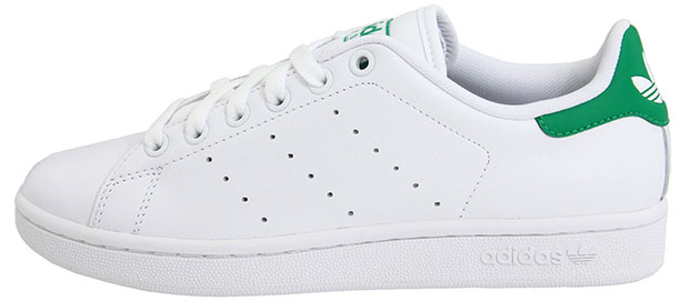 Adidas Stan Smith all white green sneakers