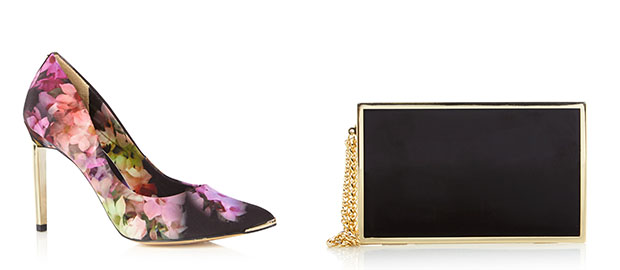 Ted Baker flower pumps Reiss Joy clutch