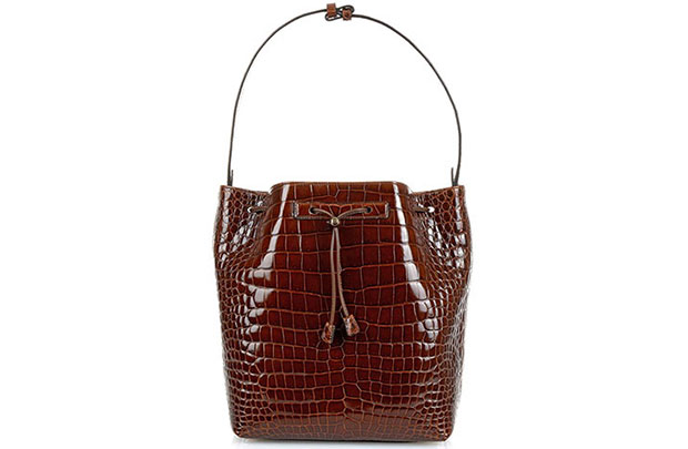 The Row bucket bag croc