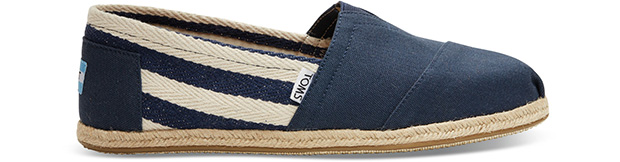 Toms university classic stripes espadrilles