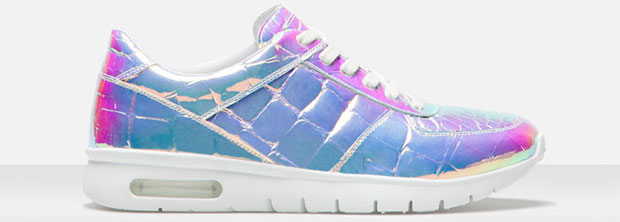 Uterqüe iridescent sneakers white
