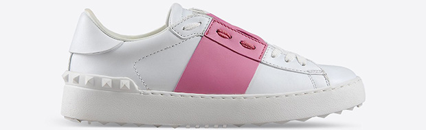 Valentino open white pink sneakers