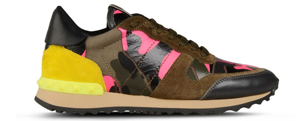 Valentino Rockrunner sneakers camo pink
