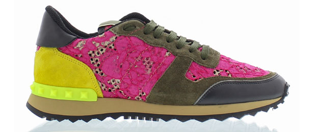 Valentino Rockrunner sneakers lace pink