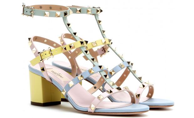 Valentino Rockstud sandals pastel