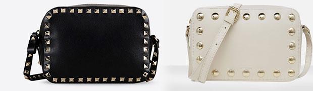 Valentino vs Uterqüe bag black white