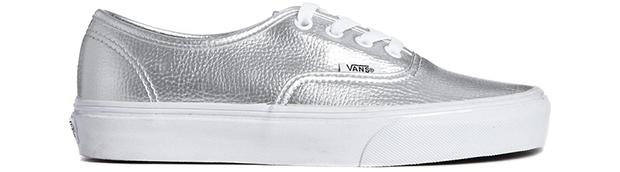 Vans authentic silver sneakers